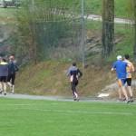 le peloton au départ de la course à pied