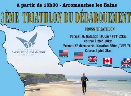 triathlon du débarquement, le 8 juin !