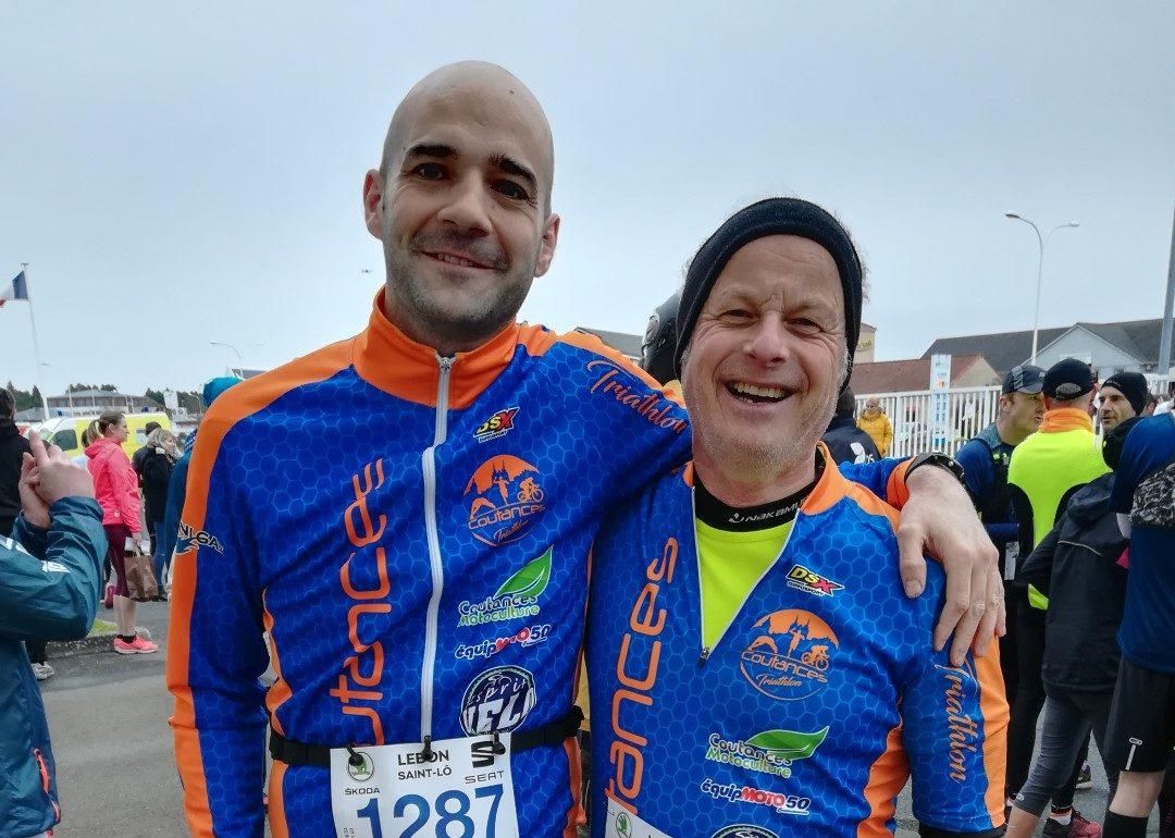 Benoit et Philippe au Trail du Pays St Lois